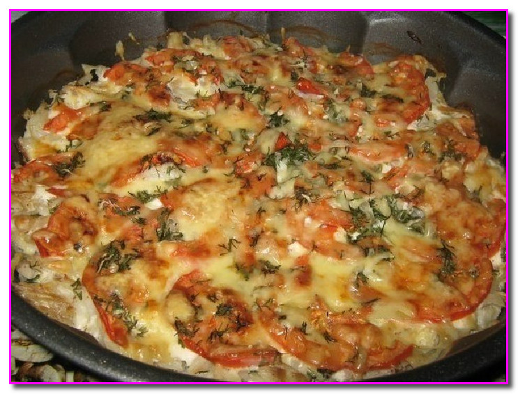 рыба в духовке с сыром и помидорами рецепты с фото