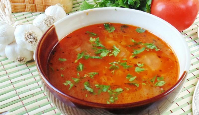 Суп харчо с курицей и томатной пастой рецепт