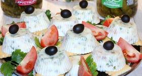 Салат оливье заливной