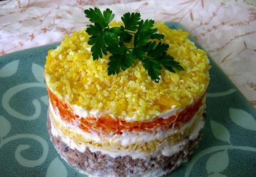 салат мимоза традиционный рецепт