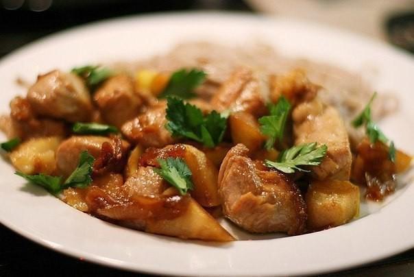 Диетический ужин из куриной грудки
