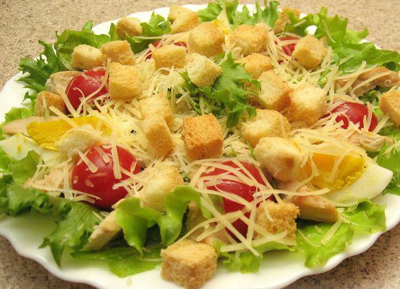 рецепт салатов цезарь и греческий
