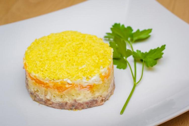 Салат из кеты мимоза #1