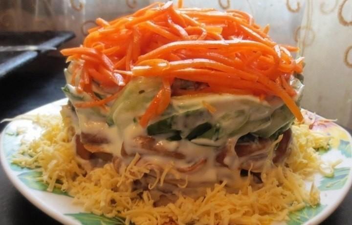 Салат с корейской морковкой поваренок